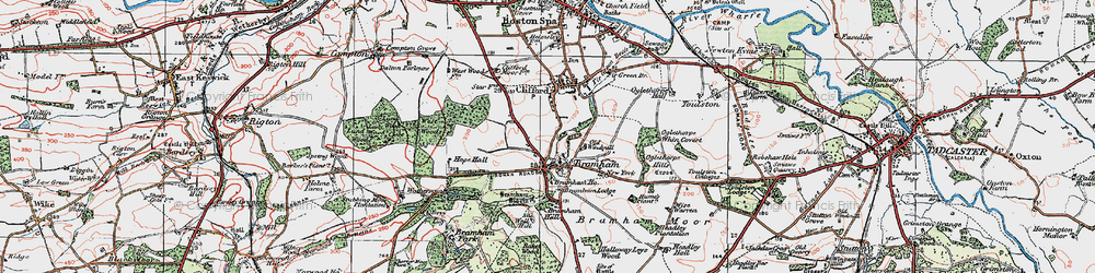 Old map of Wise Warren in 1925