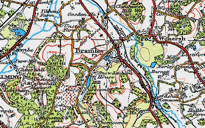 Old map of Bramley in 1920