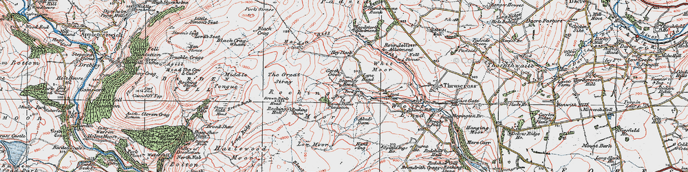 Old map of Aked's Dam in 1925