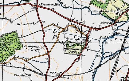 Old map of Brampton in 1919