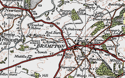 Old map of Wood's Hill in 1925