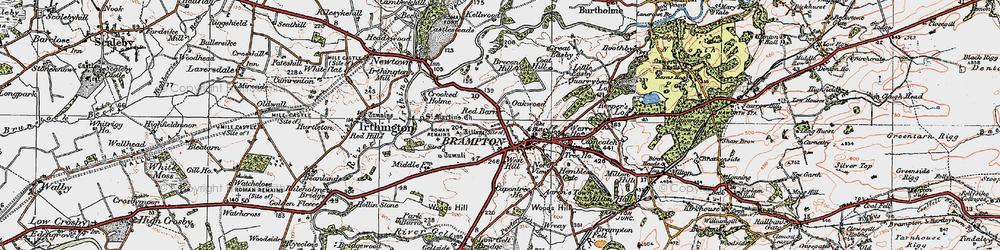 Old map of Brampton in 1925