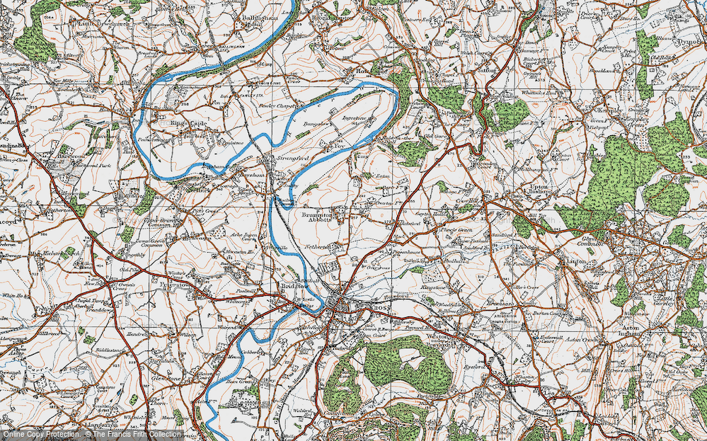 Old Map of Brampton Abbotts, 1919 in 1919