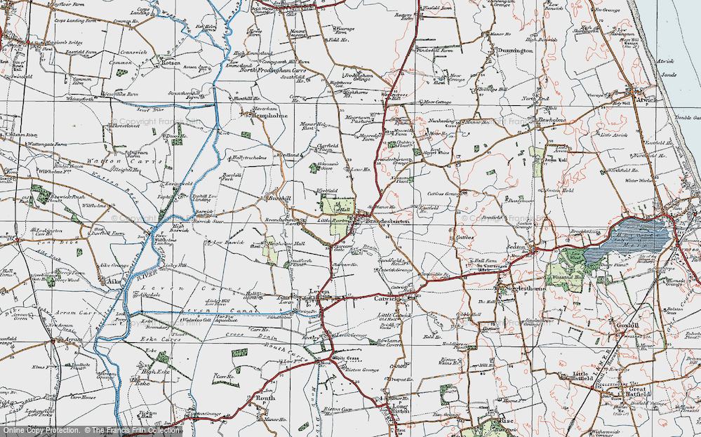 Old Map of Historic Map covering Barff Ho in 1924