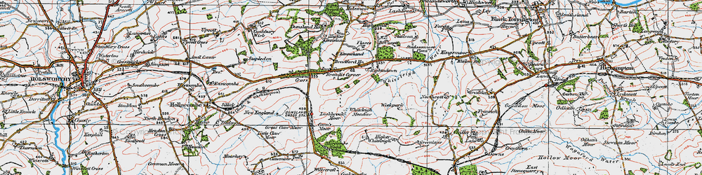 Old map of Whiteleigh Meadow in 1919
