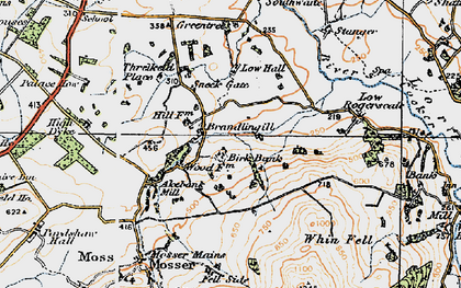 Old map of Whin Fell in 1925