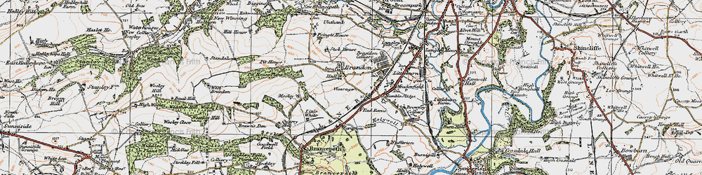 Old map of Brandon in 1925