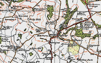 Old map of Brandsby in 1924
