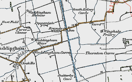 Old map of Winghale Priory in 1923