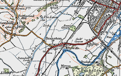 Old map of Branston in 1921