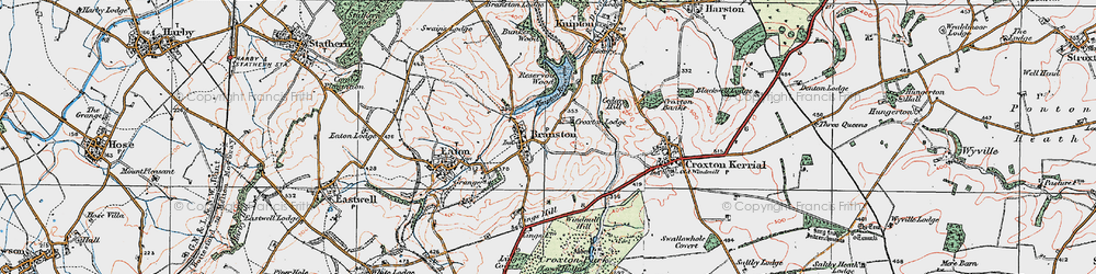 Old map of Lings Hill in 1921