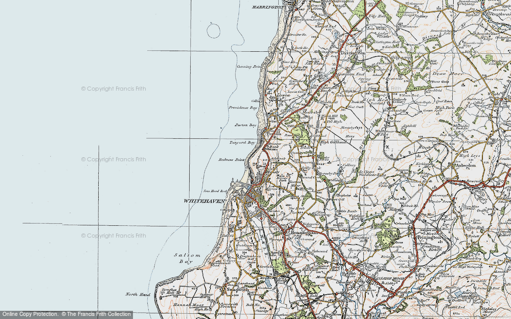 Old Map of Bransty, 1925 in 1925