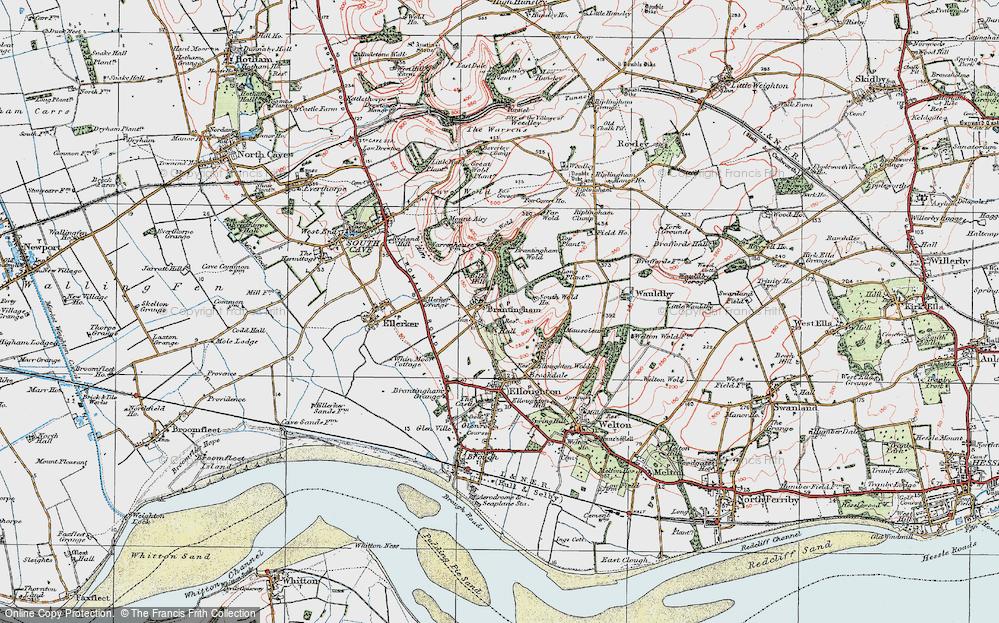 Old Map of Brantingham, 1924 in 1924