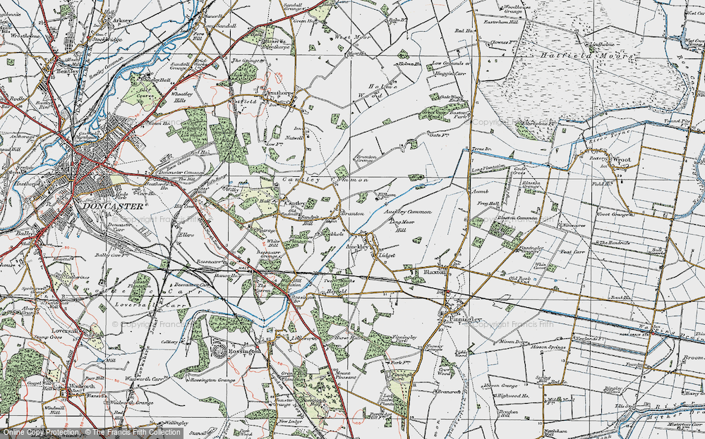 Old Map of Branton, 1923 in 1923