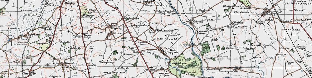 Old map of Lightmire Field in 1925