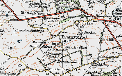 Old map of Branxton in 1926