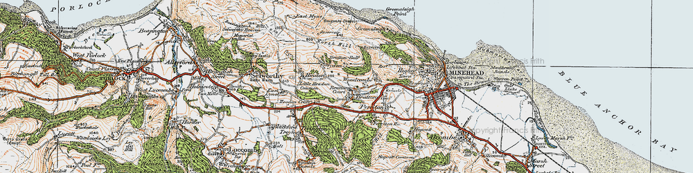 Old map of Bratton in 1919