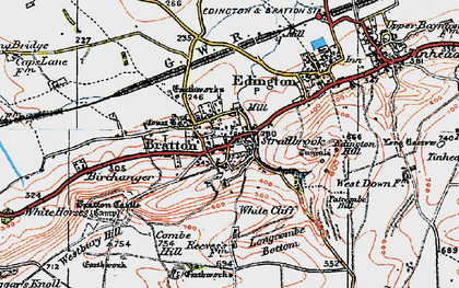 Old map of White Cliff in 1919