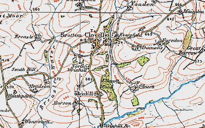 Old map of Wortham in 1919