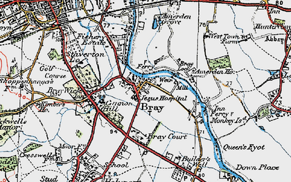 Old map of Bray in 1919