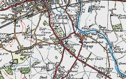 Old map of Bray Wick in 1919