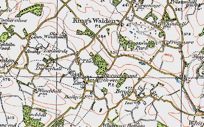 Old map of Breachwood Green in 1920