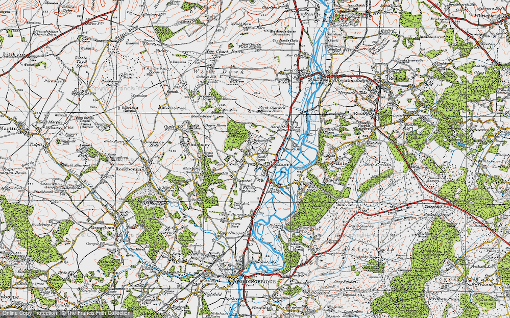 Old Map of Breamore, 1919 in 1919