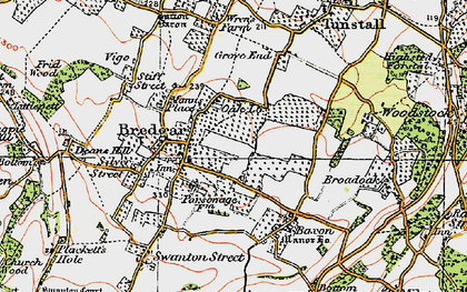 Old map of Bredgar in 1921
