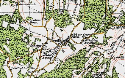 Old map of Bredhurst in 1921