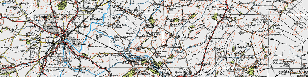 Old map of Bremhill in 1919