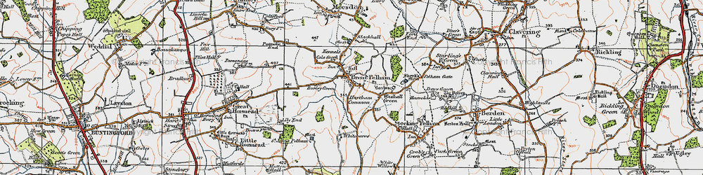 Old map of Whitebarns in 1919