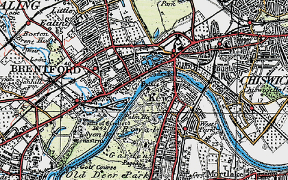 Old map of Brentford in 1920