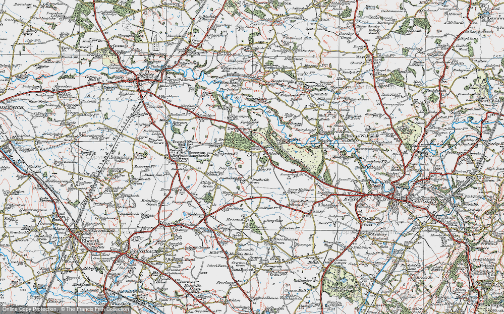 Old Map of Brereton Heath, 1923 in 1923