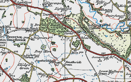 Old map of Brereton Heath in 1923
