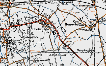 Old map of Badsey Field in 1919
