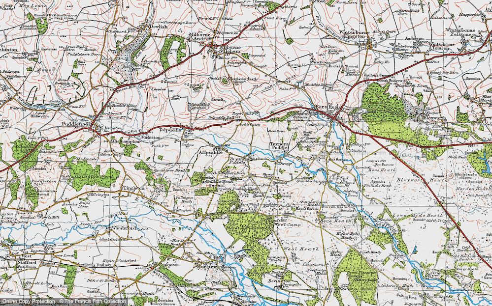 Old Map of Historic Map covering Ashley Barn in 1919