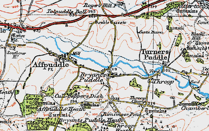 Old map of Ashley Barn in 1919