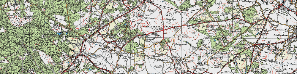 Old map of Westcroft Park in 1920