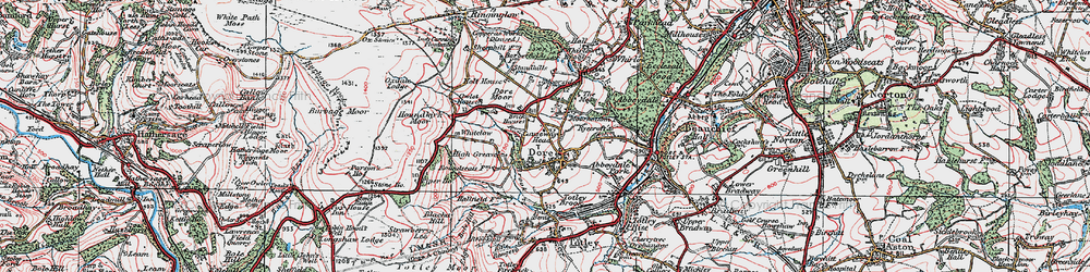 Old map of Limb Brook in 1923
