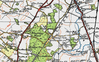 Old map of Bricket Wood in 1920