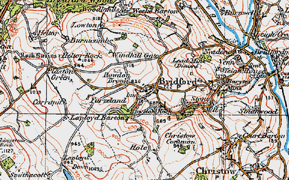 Old map of Windhill Gate in 1919