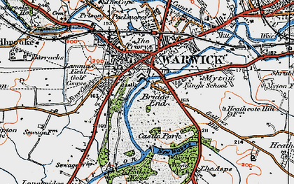 Old map of Barford Wood in 1919