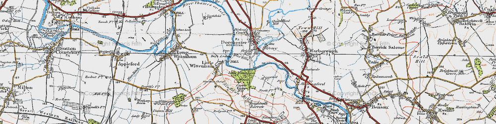 Old map of Bridge End in 1919