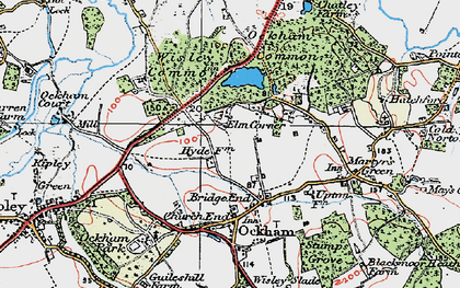 Old map of Bridge End in 1920