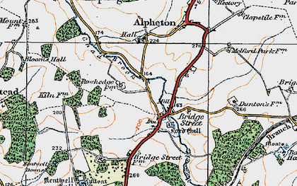 Old map of Lineage Wood in 1921