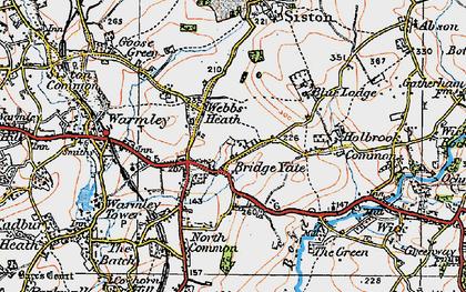 Old map of Bridge Yate in 1919