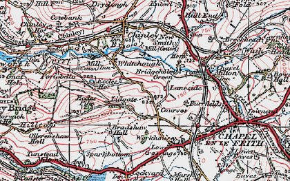 Old map of Lidgate in 1923