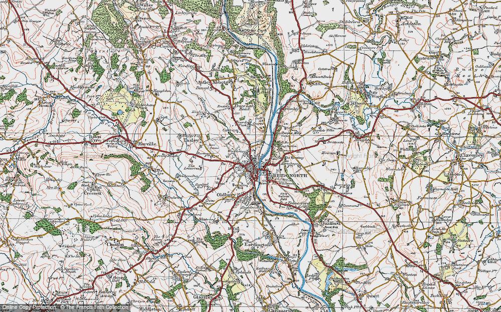 Old Map of Bridgnorth, 1921 in 1921