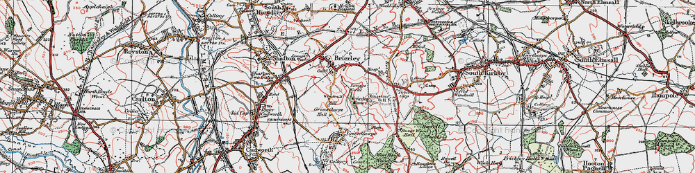 Old map of Windmill Hill in 1924