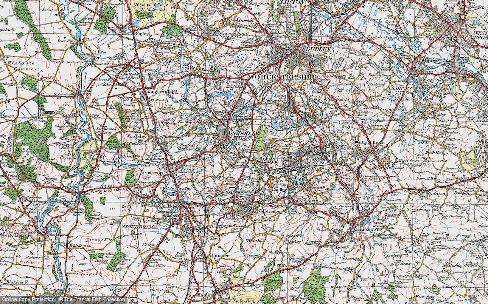 Old Map of Brierley Hill, 1921 in 1921